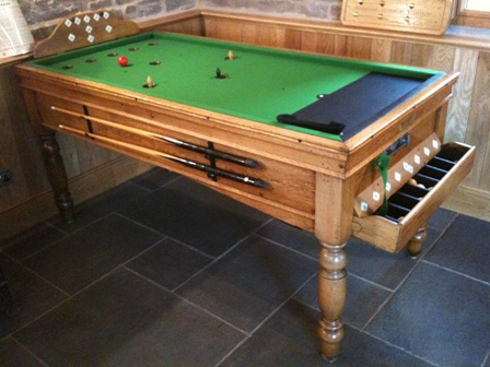 Antique Bar Billiard Table And New Bar Billiards Spares